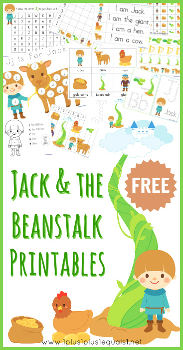 Unusual image for jack and the beanstalk story printable