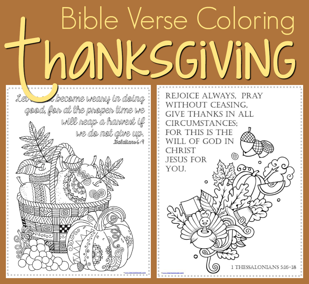 thanksgiving coloring pages bible verses - photo#21